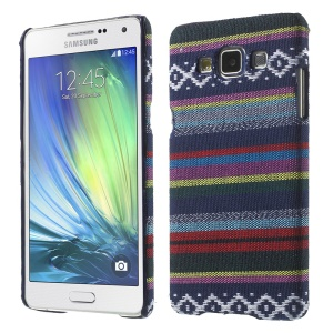 Tribal Pattern Textile Coated Hard PC Case for Samsung Galaxy A5 SM-A500F - Dark Blue