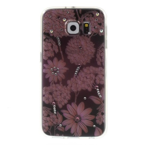 Embossed PC + TPU Phone Case for Samsung Galaxy S6 G920 - Blooming Daisy Flowers