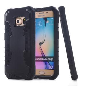 3-in-1 PC + Silicone Hybrid Case for Samsung Galaxy S6 edge G925 - Black