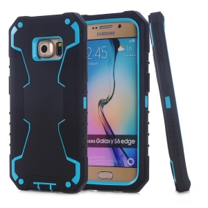 3-in-1 PC + Silicone Hybrid Shell for Samsung Galaxy S6 edge G925 - Black / Blue