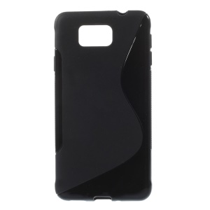 S-line Pattern TPU Gel Case for Samsung Galaxy Alpha SM-G850F SM-G850A - Black