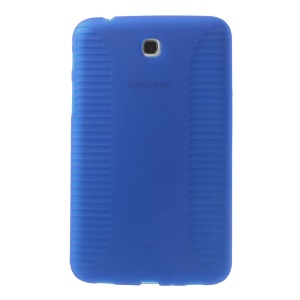 Anti-skid Protective TPU Case for Samsung Galaxy Tab 3 7.0 P3200 P3210 - Dark Blue