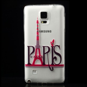 Diamond Paris Eiffel Tower TPU Skin Case for Samsung Galaxy Note 4 N910