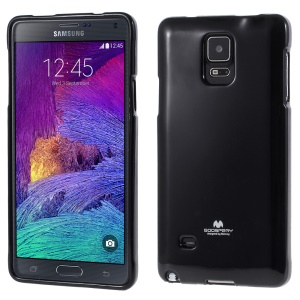 MERCURY Glittery Powder Jelly TPU Case for Samsung Galaxy Note 4 N910 - Black
