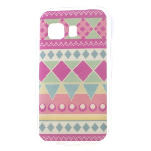 Geometric Pattern Glossy TPU Shell Case for Samsung Galaxy Young 2 SM-G130