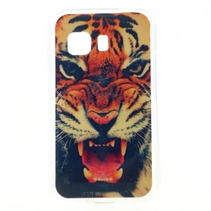 Fierce Tiger Glossy TPU Shell Cover for Samsung Galaxy Young 2 SM-G130
