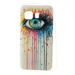 Colorized Eye Glossy TPU Cover Case for Samsung Galaxy Young 2 SM-G130