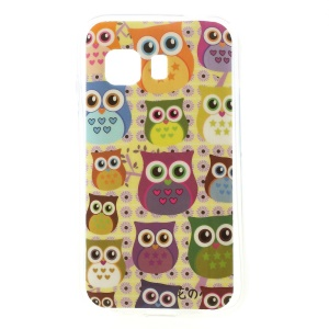 Multiple Owls Glossy TPU Shell Case Cover for Samsung Galaxy Young 2 SM-G130