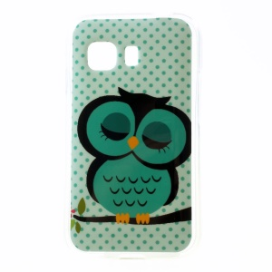 Sleeping Owl on the Branch Glossy TPU Gel Case for Samsung Galaxy Young 2 SM-G130