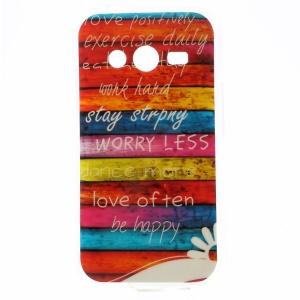 Stripes & Quote TPU Case for Samsung Galaxy Ace NXT SM-G313H / Ace 4 LTE SM-G313F