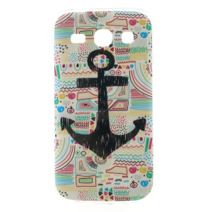 Glossy TPU Gel Cover for Samsung Galaxy Star 2 Plus G350E - Anchor & Cartoon Painting