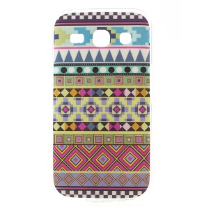 Glossy TPU Case Cover for Samsung Galaxy Star 2 Plus G350E - Tribal Geometric Figures