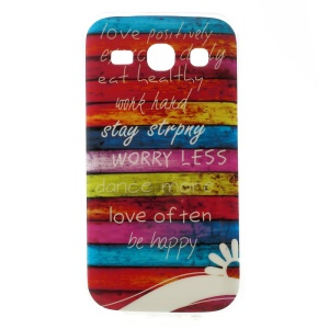 Glossy TPU Back Cover for Samsung Galaxy Star 2 Plus G350E - Stripes & Quote Words
