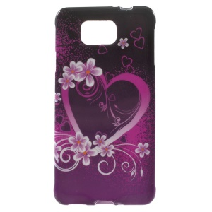 Heart Flowers for Samsung Galaxy Alpha SM-G850F SM-G850A Glossy TPU Shell Case