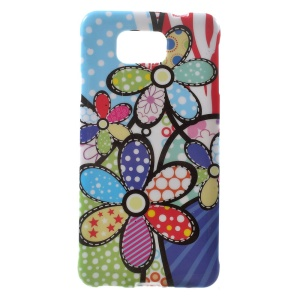 Colorized Flowers for Samsung Galaxy Alpha SM-G850F SM-G850A Glossy TPU Case Cover