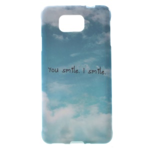 You Smile I Smile Pattern for Samsung Galaxy Alpha SM-G850F SM-G850A Glossy TPU Shell Case Cover
