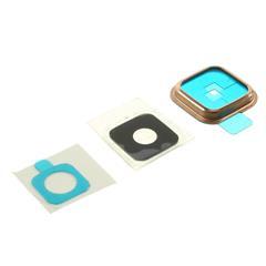 Camera Lens & Bezel & Sticker Repair Part for Samsung Galaxy S5 - Gold