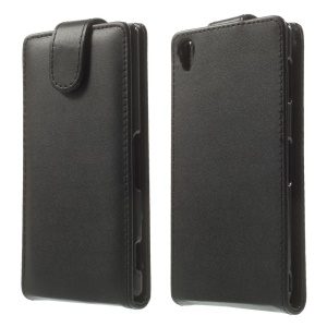 Black for Sony Xperia Z3 D6653 D6603 Vertical Flip Leather Case