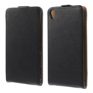 Black Vertical Flip PU Leather Case Cover for Sony Xperia Z3 D6653 D6603