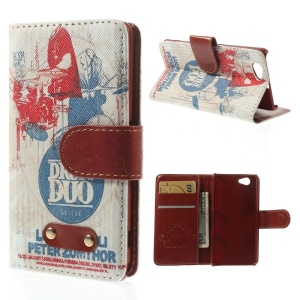 Suisse Drum Duo Pattern Wallet Leather Stand Case for Sony Xperia Z1 Compact D5503