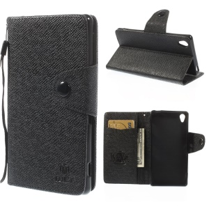 MLT Wallet Leather Stand Case for Sony Xperia Z3 D6653 D6603 - Black