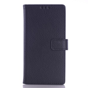 Litchi Grain PU Leather Case for Sony Xperia E3 D2203 D2206 / E3 Dual D2212 - Black