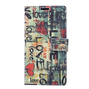 Leather Case for Sony Xperia Z3 D6603 D6653 - Love Graffiti