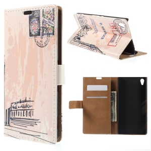 Big Ben and Postmark Folio Leather Card Holder Shell for Sony Xperia Z4