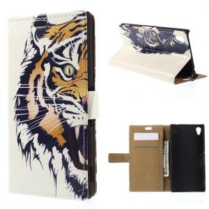 Cool Tiger for Sony M4 Aqua / Aqua Dual Leather Wallet Magnetic Shell