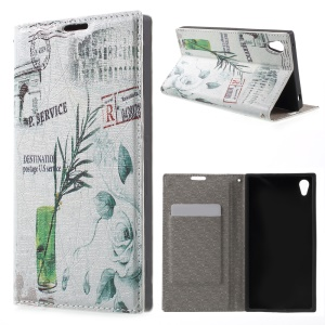 Leather Card Holder Cover for Sony Xperia Z3+ E6553 / dual E6533 - Triumphal Arch