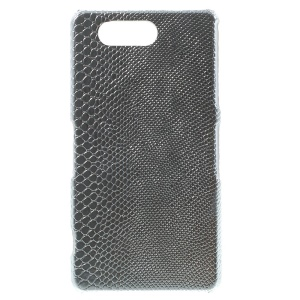 Lizardstripe Leather Skin PC Hard Case for Sony Xperia Z3 Compact D5803 M55w - Silver