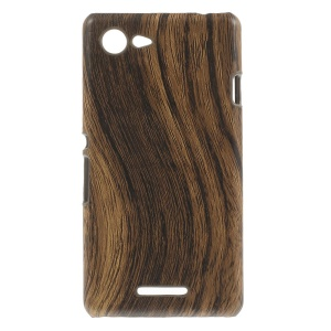 Wooden Texture Leather Coated PC Shell Case for Sony Xperia E3 D2203 D2206 / E3 Dual SIM