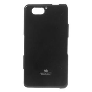 Mercury Glittery Powder Jelly TPU Skin Case for Sony Xperia A2 - Black