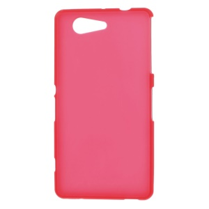 Frosted TPU Cover Shield for Sony Xperia Z3 Compact D5803 M55w - Red