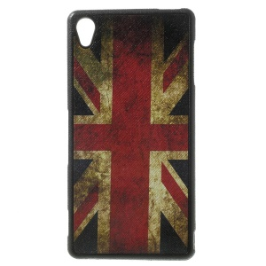 Vintage Union Jack Flag Leather Coated TPU Case for Sony Xperia Z3 D6653 D6603