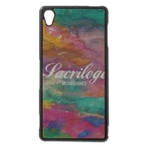 Colorized Pattern Leather Coated TPU Shell Case for Sony Xperia Z3 D6653 D6603