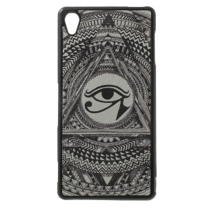 Eye of Horus Pattern Leather Coated TPU Case Shell for Sony Xperia Z3 D6653 D6603