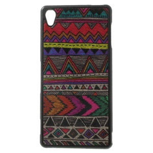 Tribal Tribe Leather Coated TPU Case Cover for Sony Xperia Z3 D6653 D6603