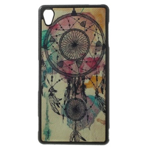 Dream Catcher Leather Coated TPU Case Accessory for Sony Xperia Z3 D6653 D6603