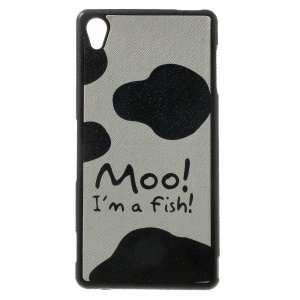 Moo I am a Fish Pattern Leather Coated TPU Case for Sony Xperia Z3 D6653 D6603