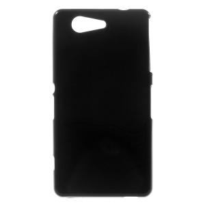 Solid Color Glossy Flex TPU Gel Case for Sony Xperia Z3 Compact D5803 M55w - Black
