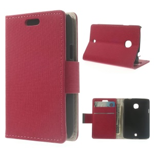 Maze Texture Leather Wallet Stand Shell for LG L30 - Rose