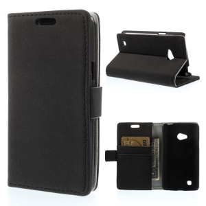 Pebble Grain Wallet Leather Stand Case Cover for LG L50 D213N - Black