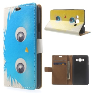 Blue Hairy Doll PU Leather Wallet Case w/ Stand for LG L60 X145