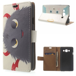 Devils Horns Hairy Doll Wallet Stand PU Leather Shell for LG L60 X145