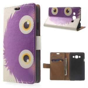 Purple Hairy Doll Wallet PU Leather Stand Case Shell for LG L60 X145