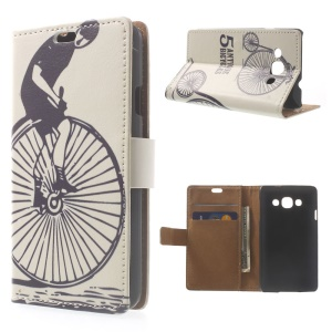 Antique Bicycles Wallet PU Leather Phone Case w/ Stand for LG L60 X145