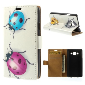 Colorful Ladybirds Wallet Stand Leather Case Accessory for LG L60 X145