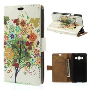 Colorized Fruit Tree Wallet PU Leather Stand Case for LG L60 X145