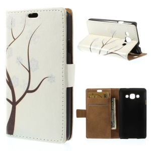 For LG L60 X145 Snowflake Tree Wallet Stand PU Leather Folio Case Cover